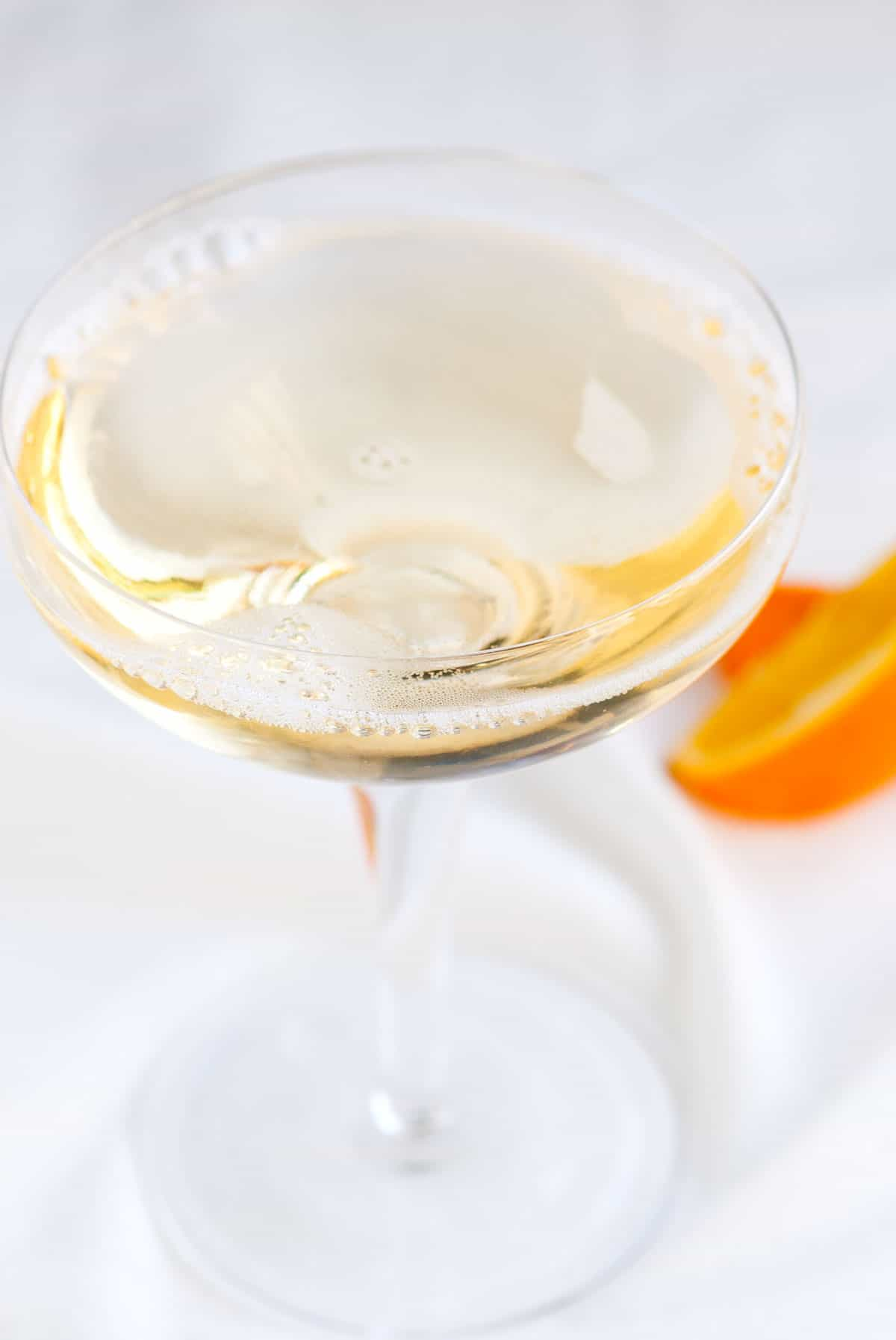 How to make a cocktail with St Germain and Champagne.
