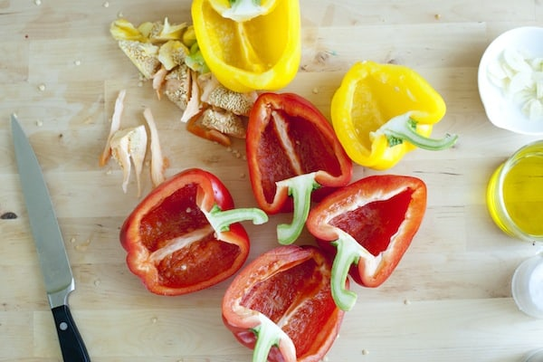 Tomato Stuffed Peppers with Herbs