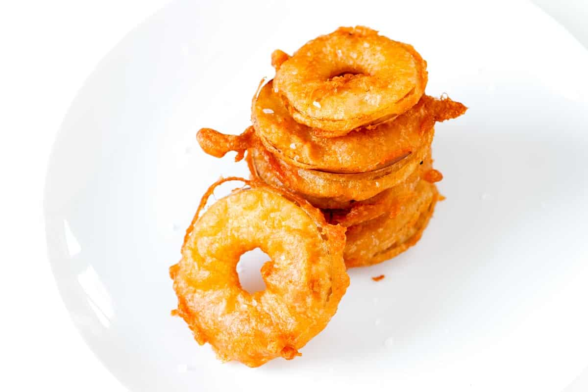 Crispy Beer Battered Fried Apples