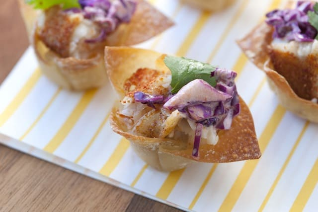 Fish Taco Wonton Cups Recipe