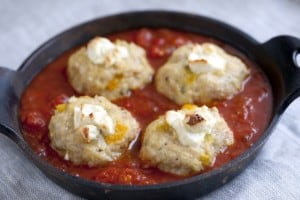 Goat Cheese Stuffed Chicken Meatballs Recipe