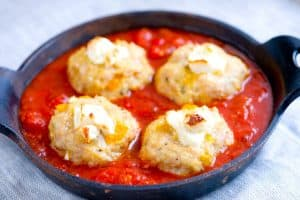 Goat Cheese Stuffed Baked Chicken Meatballs Recipe