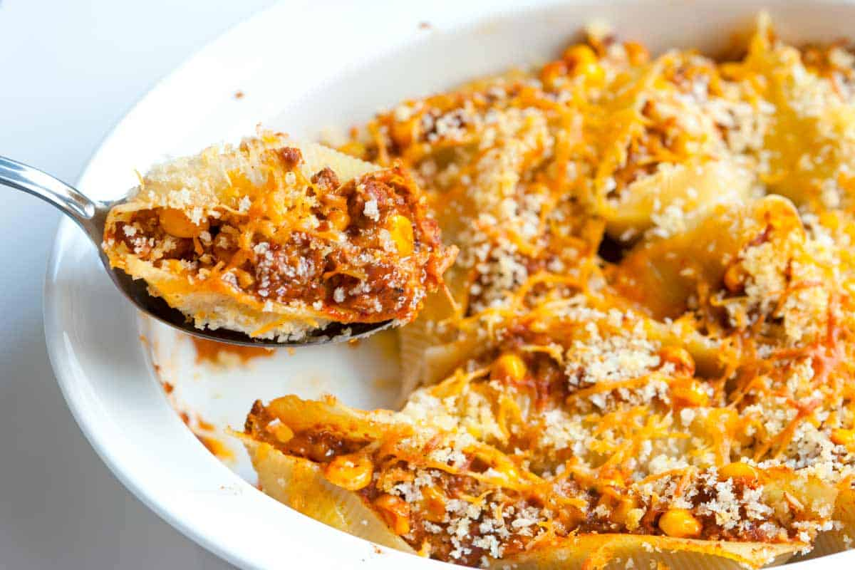 Easy Taco Stuffed Shells Recipe
