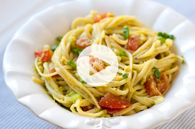Avocado Pasta Recipe Video