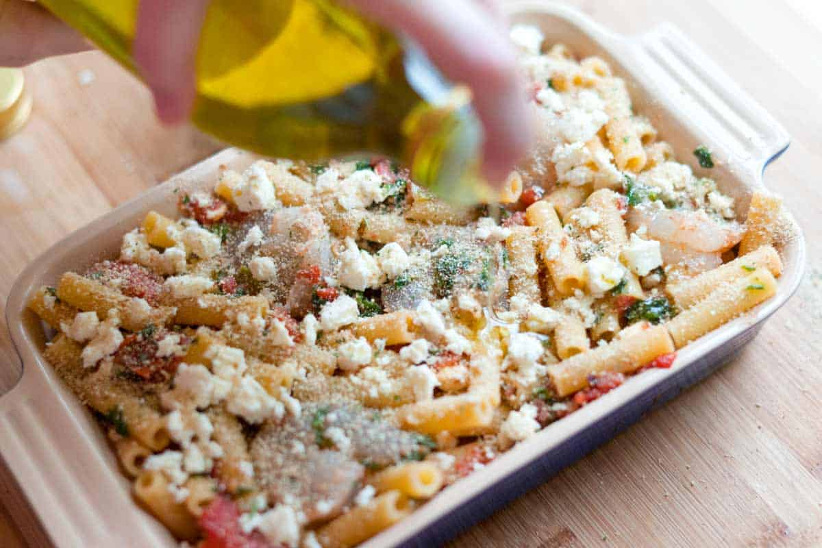 How to Make Baked Pasta with Shrimp and Spinach