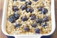 Blackberry Baked Oatmeal Recipe from inspiredtaste.net