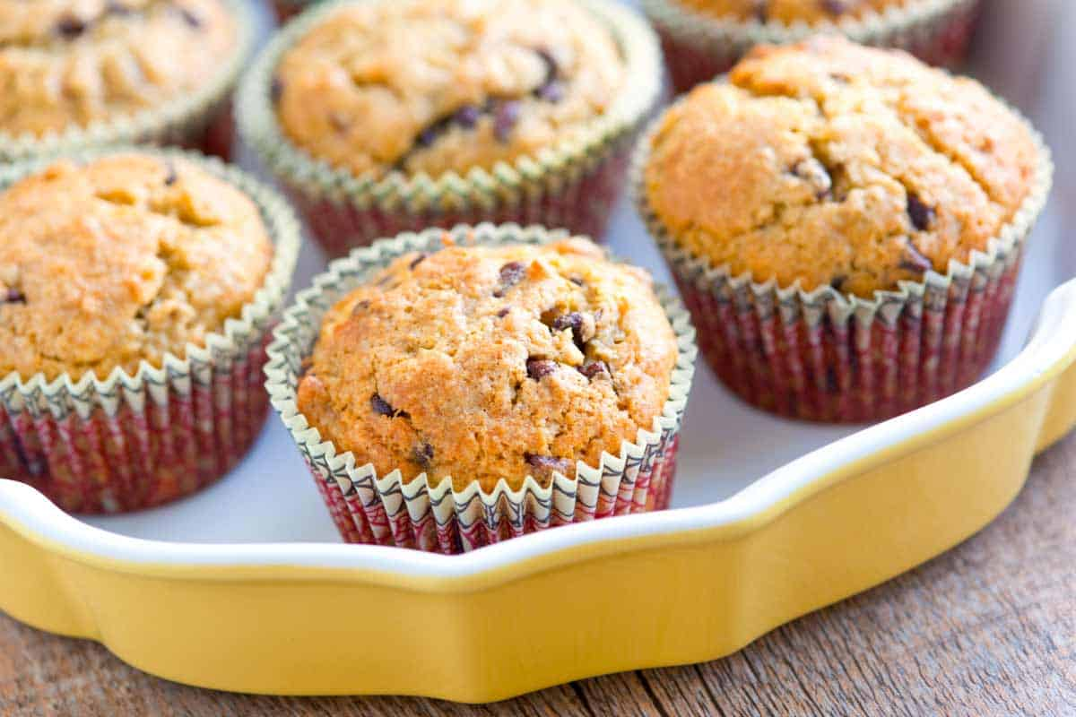 Easy Banana Muffins Recipe with Chocolate Chips