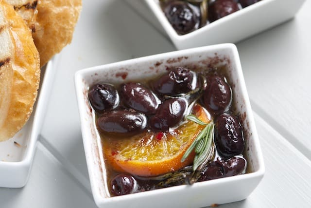 Roasted Olives with Clementine