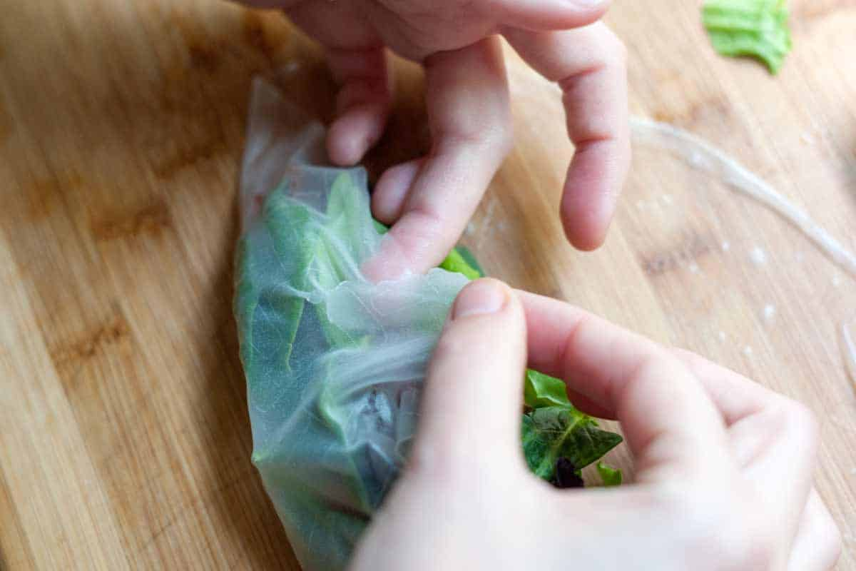 Using rice paper wrappers