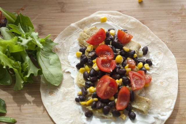 Black Bean, Egg and Corn Wrap Recipe