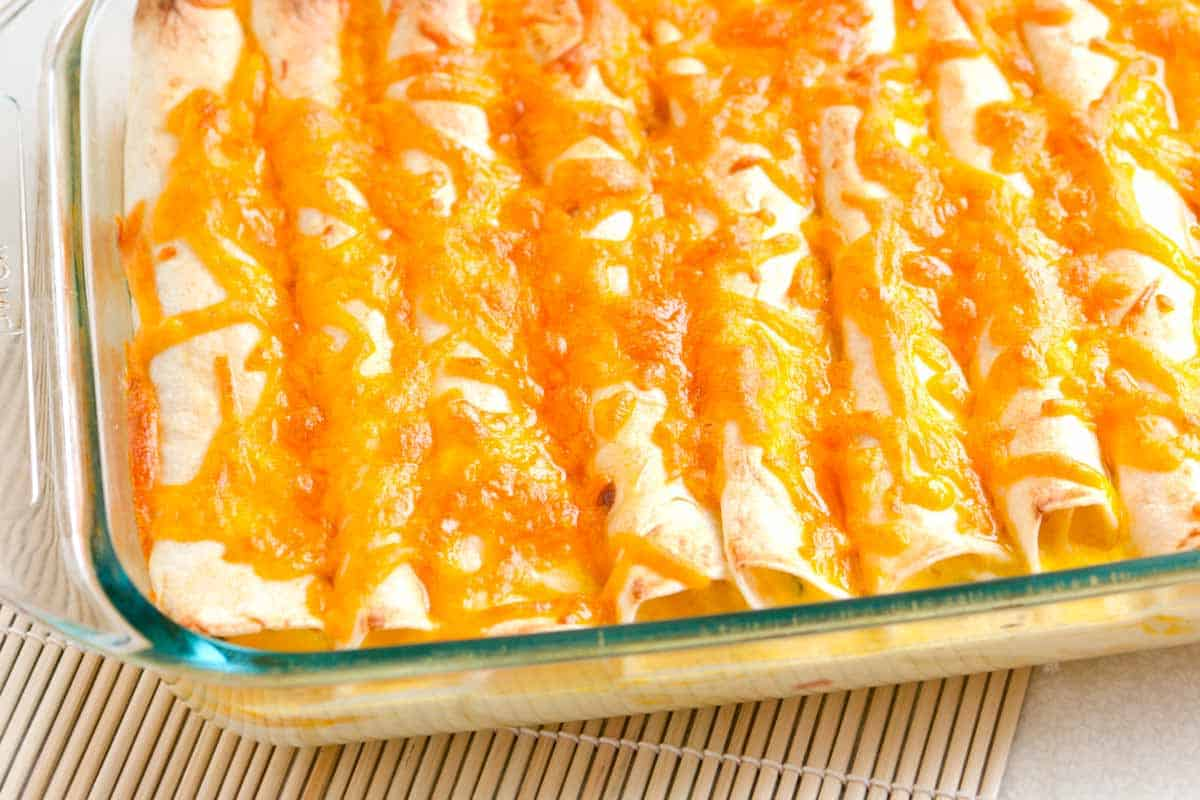 Breakfast Enchiladas Recipe with Ham and Peppers