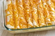Brunch Enchiladas with Ham and Peppers Recipe