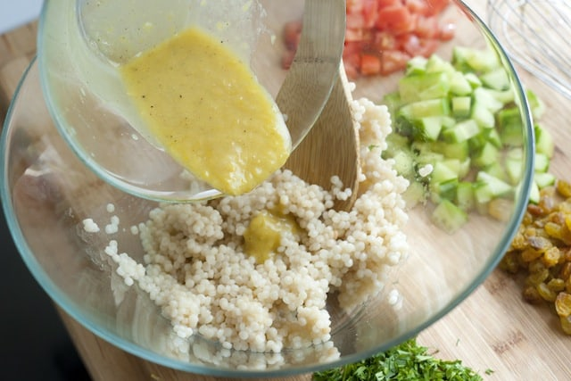 ... and Herb Couscous Salad from www.inspiredtaste.net #recipe #salad
