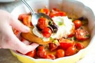 Roasted Tomatoes with Ricotta and Mint