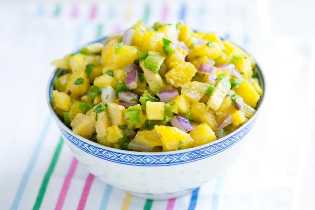 Spicy Pineapple Avocado Salsa Recipe