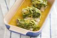 Baked Fish with Scallions and Orange Recipe