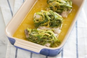 Baked Fish with Spring Onion and Orange Recipe