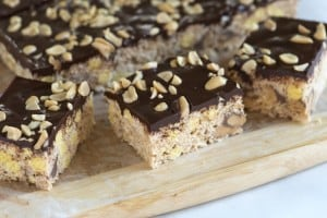 Chocolate Covered Reeses Rice Krispie Treats Recipe