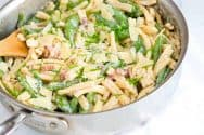 Creamy Yogurt Pasta Recipe with Bacon