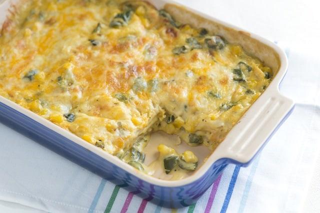 Corn and Poblano Casserole Recipe