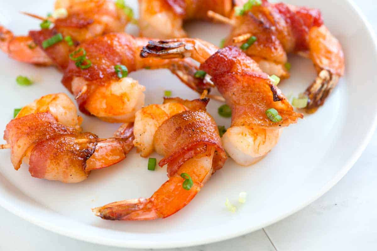 Spicy Maple Bacon Wrapped Shrimp Recipe
