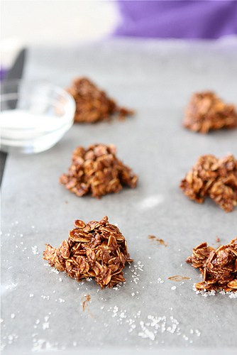 No-Bake Cookies Recipe with Dulce de Leche, Sea Salt & Oatmeal