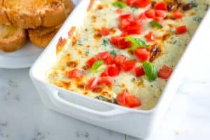 Tomato Basil Baked Cheese Dip Recipe