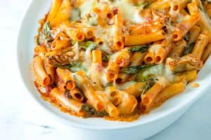 Easy Baked Ziti Recipe with Spinach