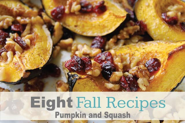 8 Fall Recipes -  Pumpkin Recipes and Squash Recipes