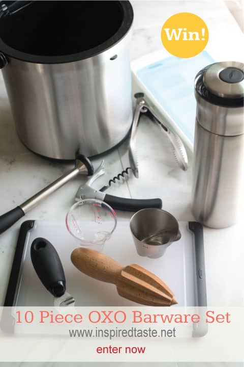 Enter to win a 10 Piece OXO Barware Set - Giveaway