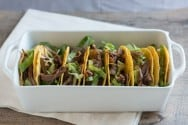Fire Roasted Tomato and Beef Tacos