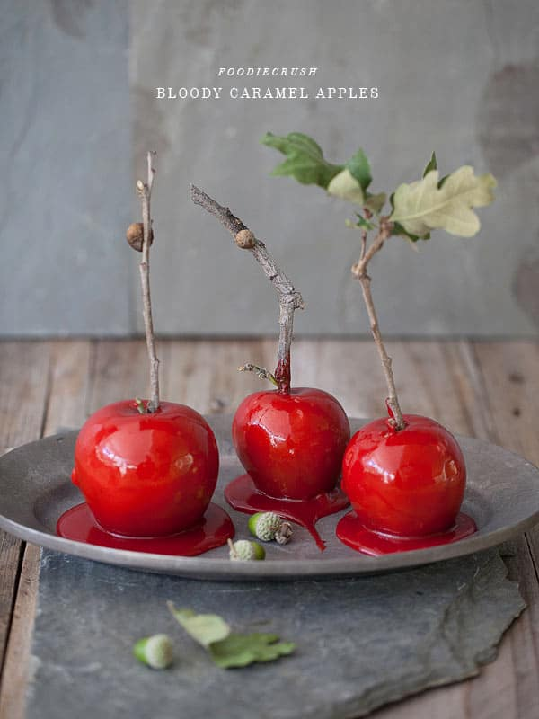 Bloody Caramel Apples