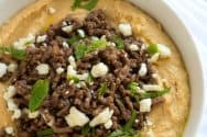 Hummus with Spiced Beef Recipe