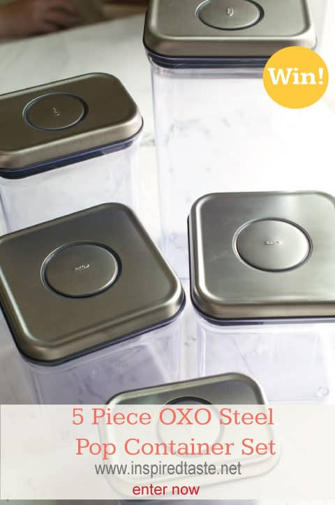 5 Piece Steel OXO Pop Container Giveaway