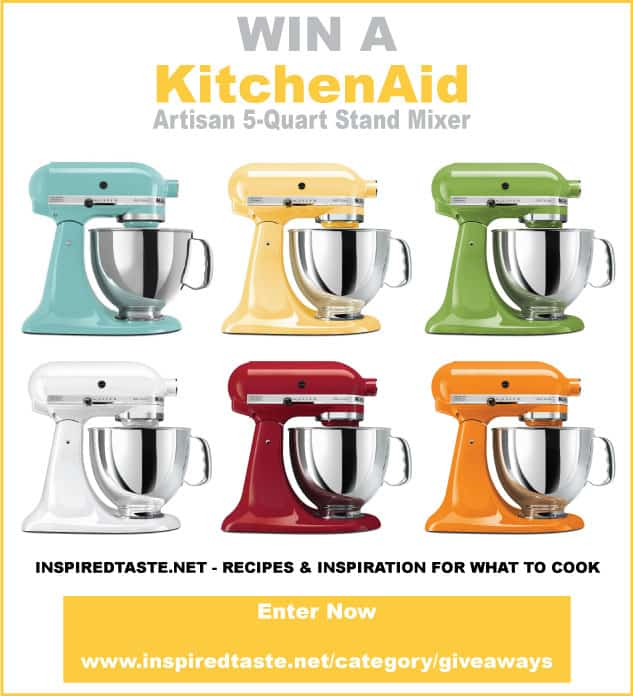 Kitchenaid Artisan 5-Quart Mixer Giveaway - inspiredtaste.net