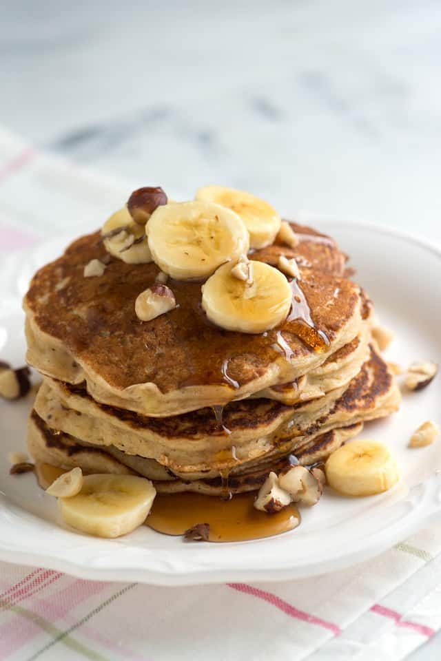 ... Banana Pancakes Recipe from www.inspiredtaste.net #recipe #pancakes