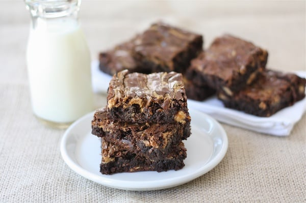 Peanut Butter Snickers Brownies