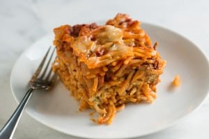 Easy Baked Spaghetti Recipe