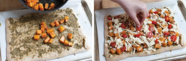 Butternut Squash and Pesto Pizza Recipe Step 2