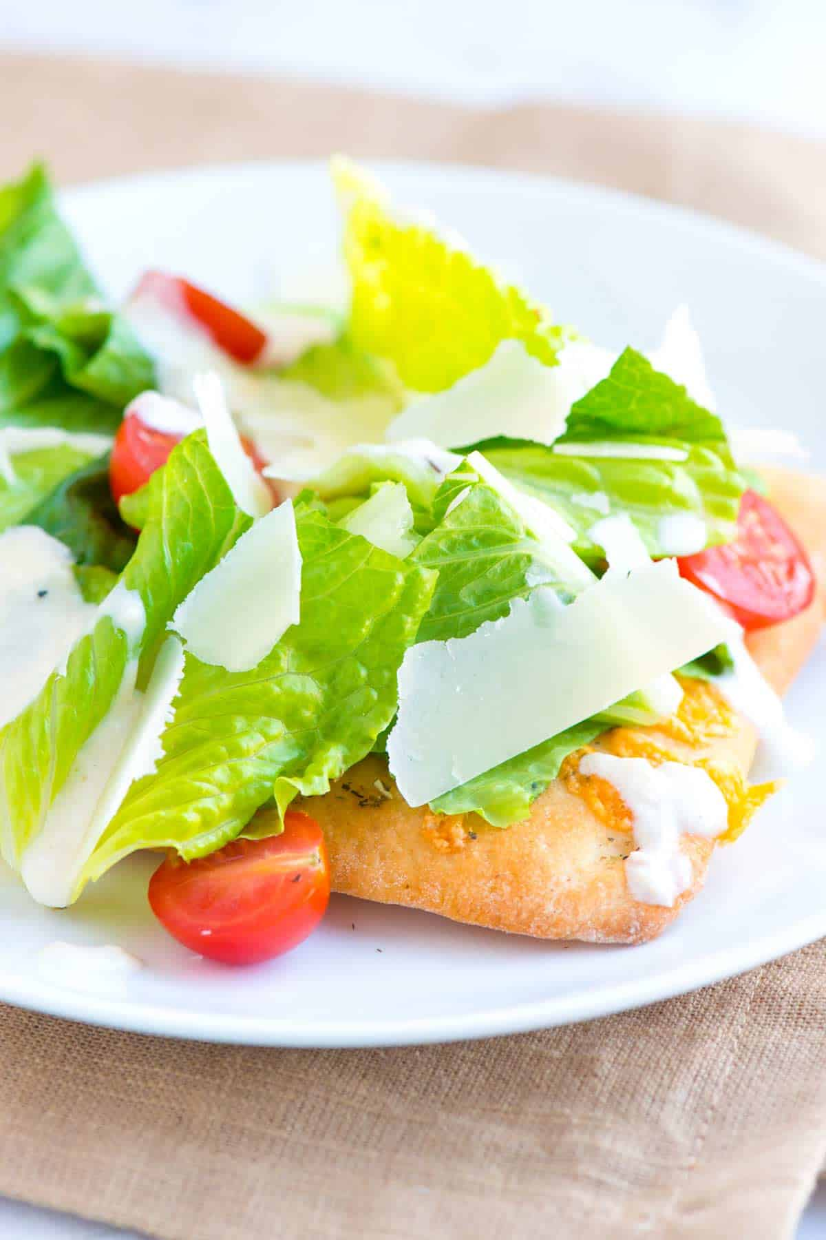 How to Make Pizza Topped with Caesar Salad
