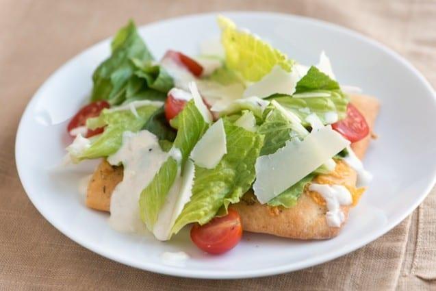 Caesar Salad Pizza Recipe