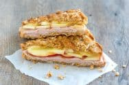 Granola Crusted Apple and Turkey Panini Recipe