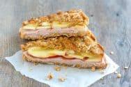 Granola Crusted Apple and Turkey Panini Recipe