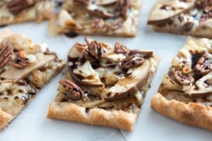 Easy Pear Pizza Recipe with Balsamic and Walnuts