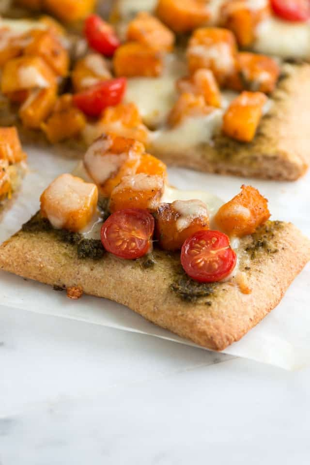 Butternut Squash and Pesto Pizza Recipe