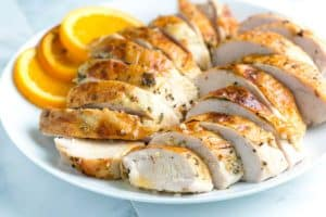 Garlic Herb Roasted Turkey Breast Recipe with Orange