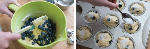 Easy Blueberry Muffin Step 2