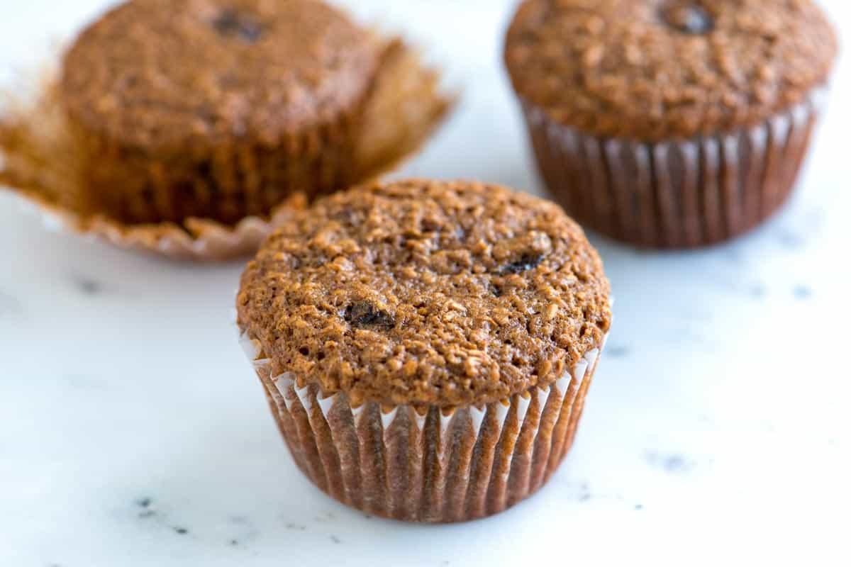 Delicious Bran Muffins Recipe with Raisins