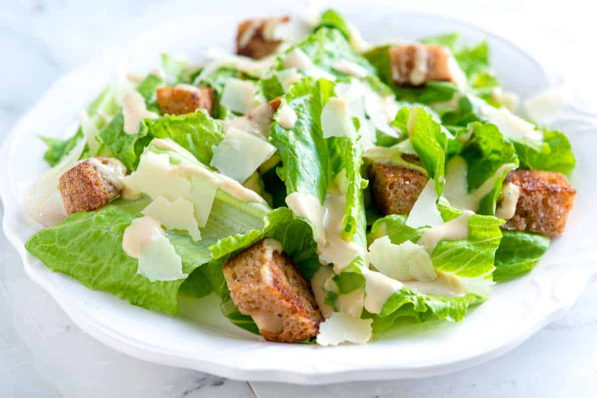 Caesar Salad Recipe with Homemade Dressing