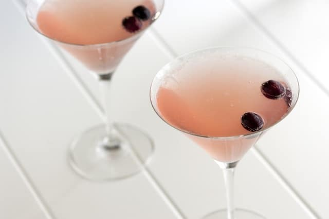 Champagne Cosmopolitan Cocktail